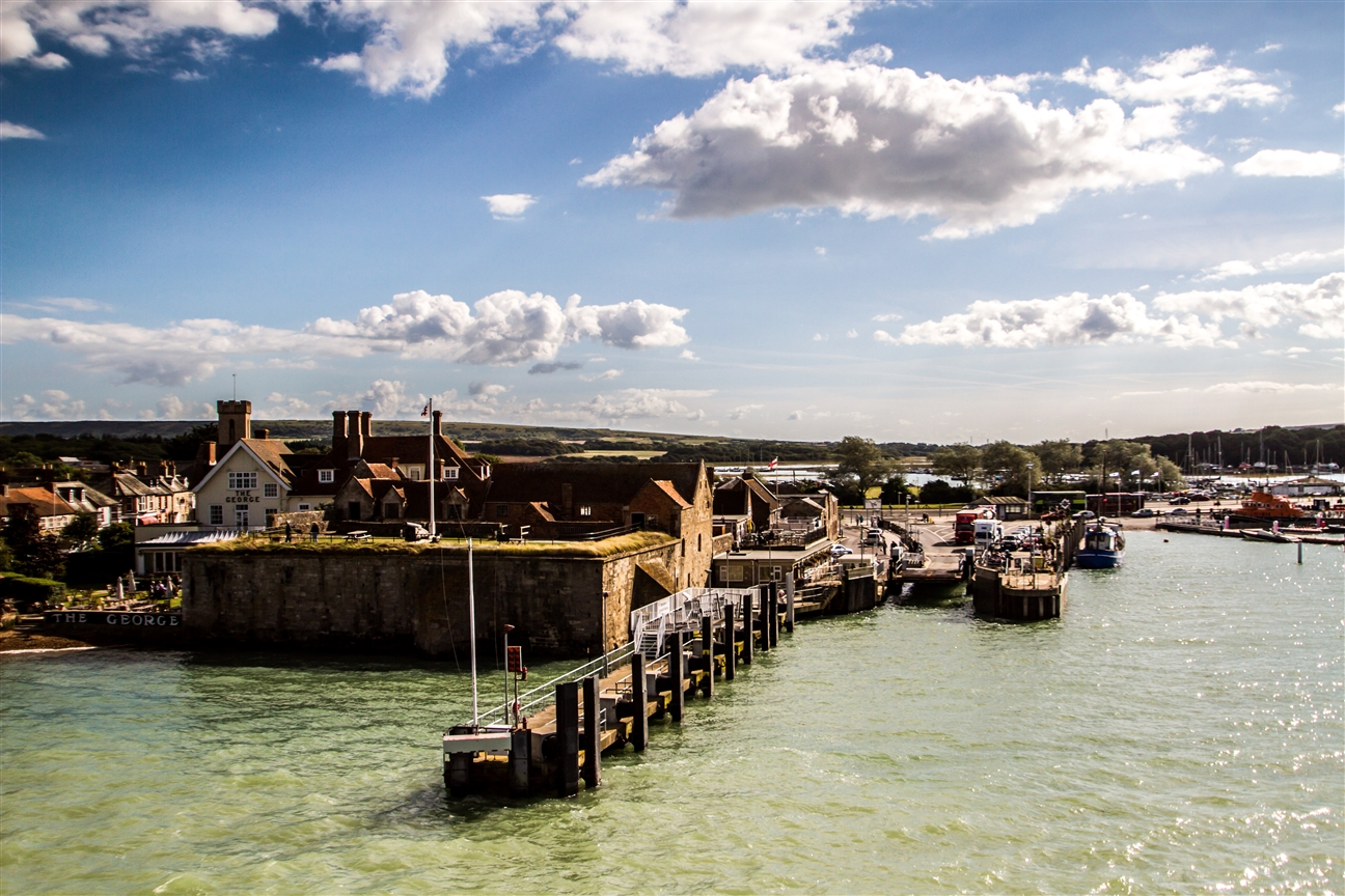 Hafen von Yarmouth auf der Isle of Wight