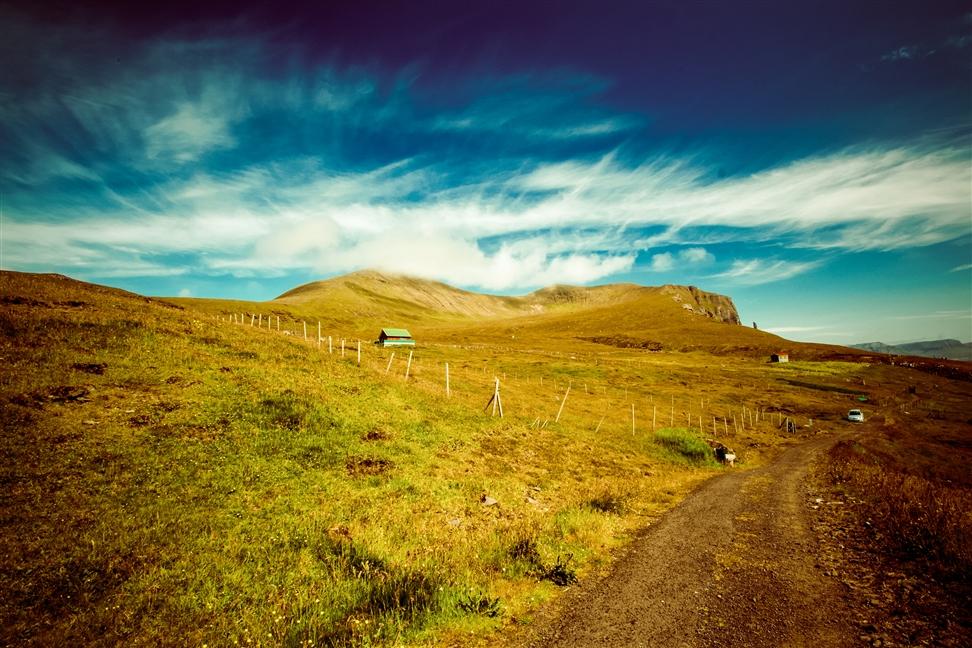 Wanderweg auf den Färöern